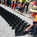 Hillview Road, Netherby - construction of permeable paving. Image: Water Sensitive SA