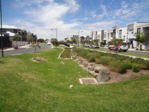Africaine Avenue, Lightsview - raingardens and detention basin