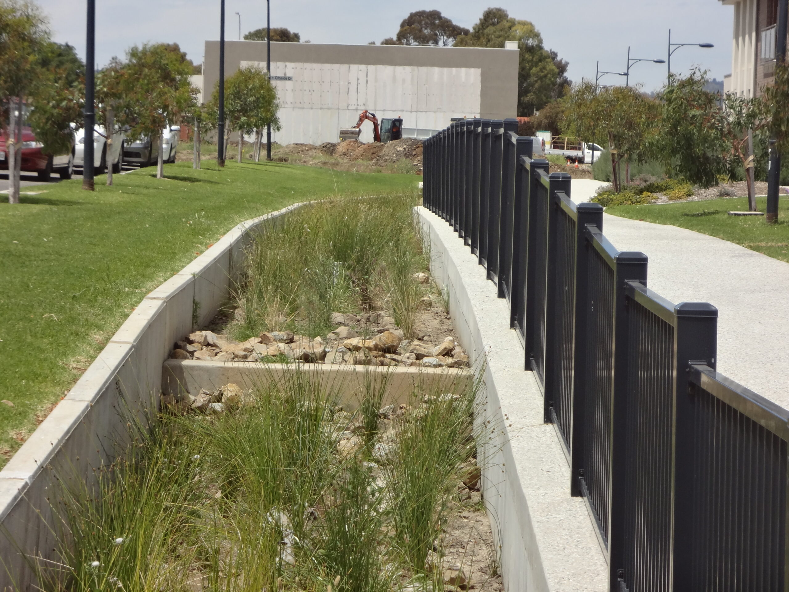 Africaine Avenue, Lightsview - raingardens and detention basin