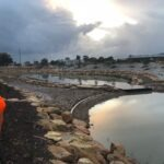 Detention basin construction near Hampstead Road, Lightsview. Image: Water Sensitive SA
