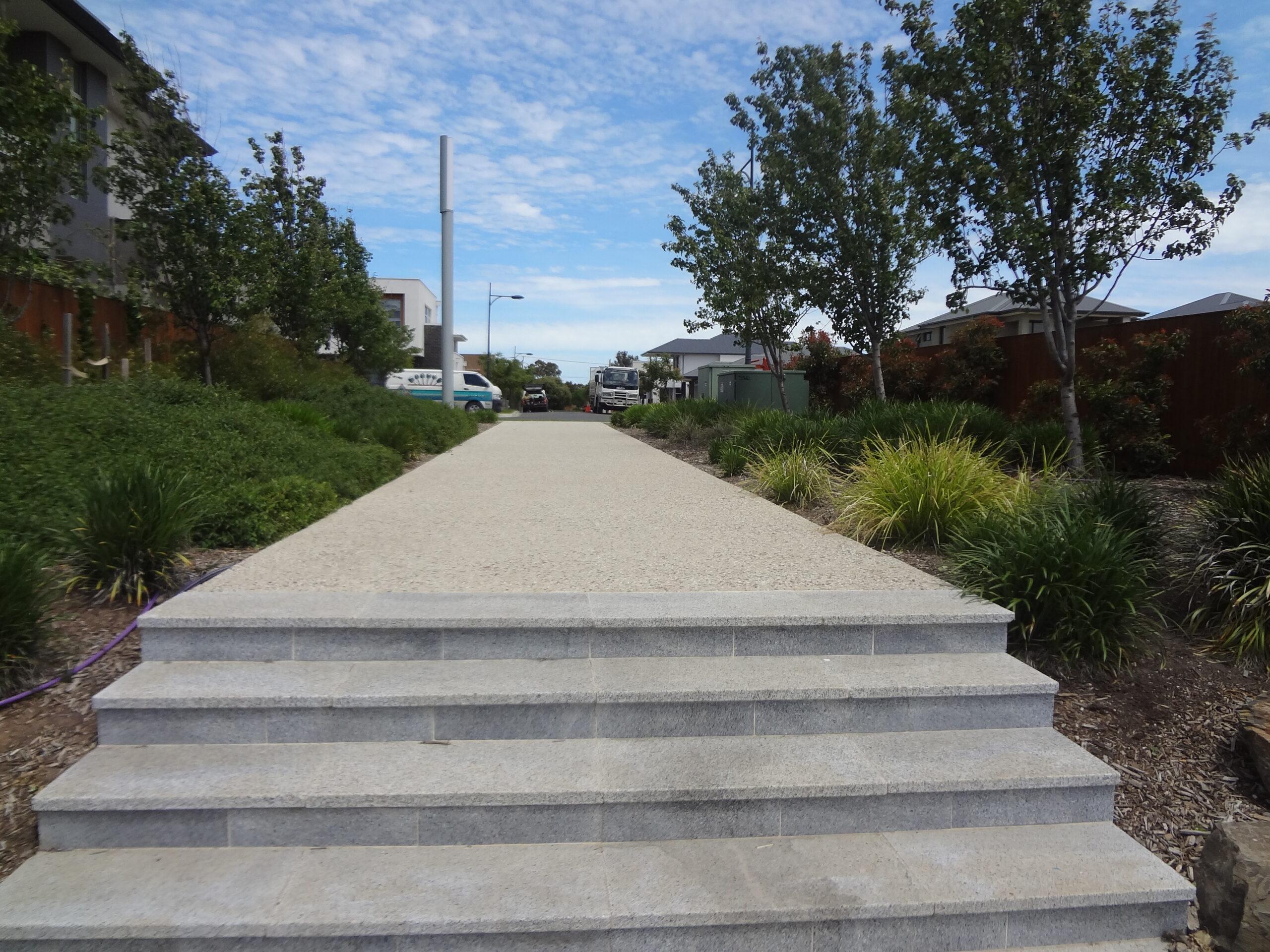 Rochester Street pedestrian walkway, Lightsview - stormwater harvesting and re-useSt pedestrian walk_Lightsview_15