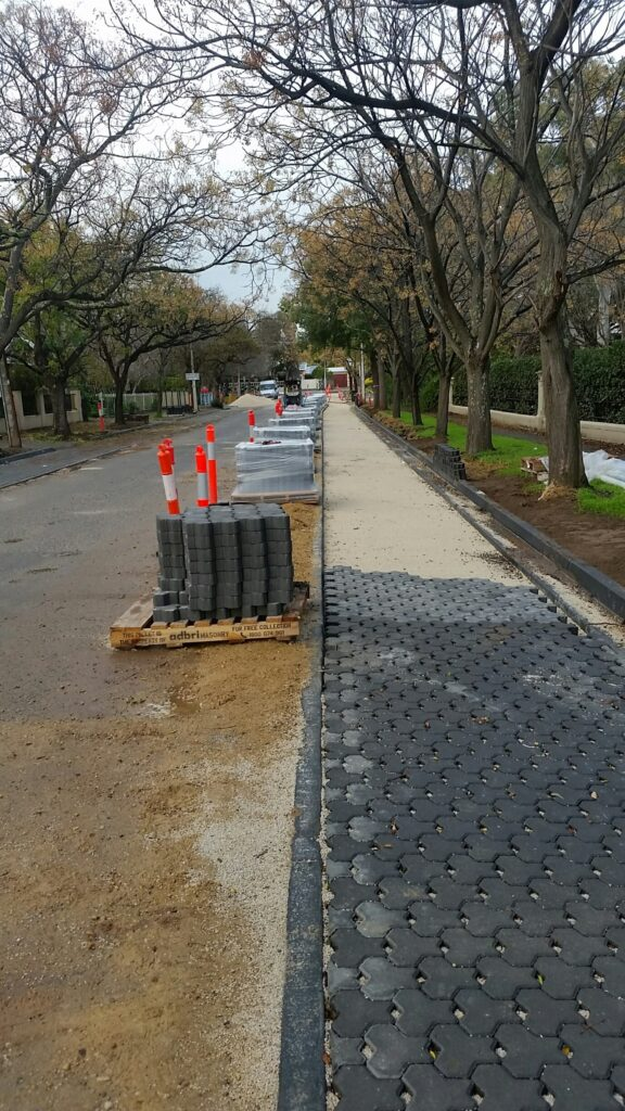 water sensitive sakent street streetscape upgrade  hawthorn