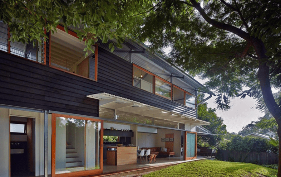 100m2 house. Photo Levesque and Derrick Architects