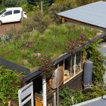 DIY green roof construction at Aldinga. Image: Sam Ryan, Folk of all Trades