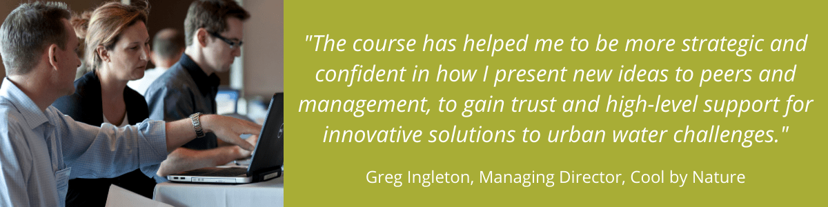 Leadership in water - Quote from Greg Ingleton