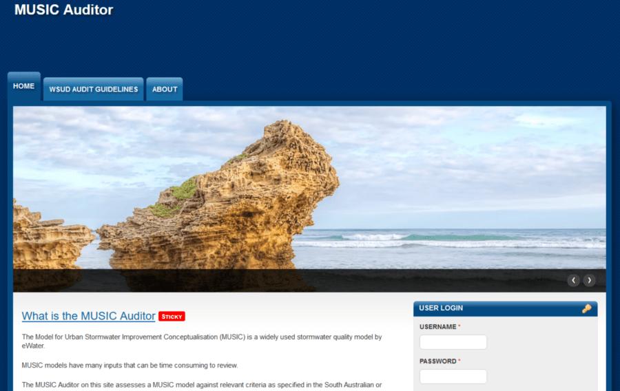 MUSIC Auditor webpage image