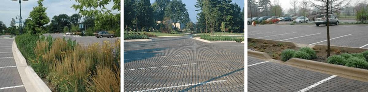 Morton Arboretum in Lisle, Illinois - permeable paving