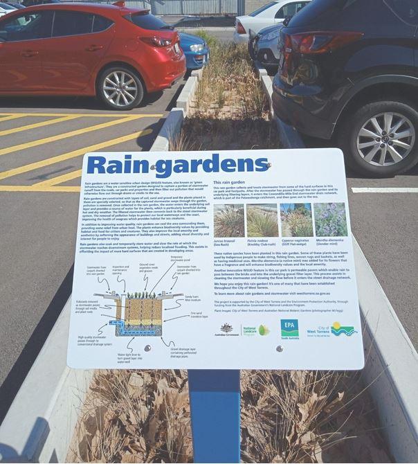 city of west torrens - raingarden interpretive trail
