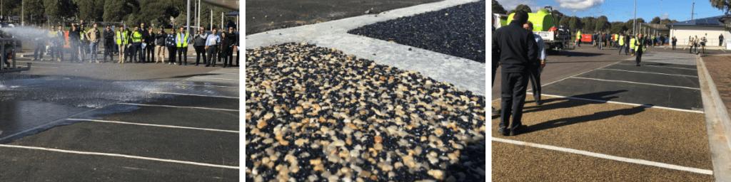 St Marys Carpark permeable paving, Laura Avenue, St Marys