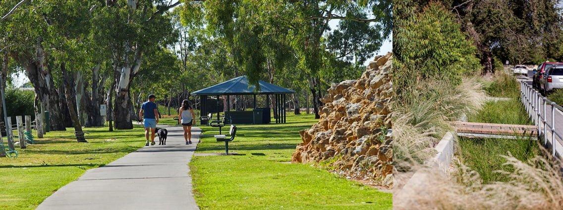 Sturt Reserve, Murray Bridge. Photo: Rural City of Murray Bridge. Randolph Avenue. Photo: City of Unley.