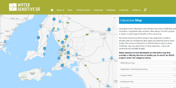WSUD projects interactive map